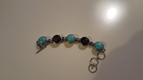 5 snap bracelet- silver