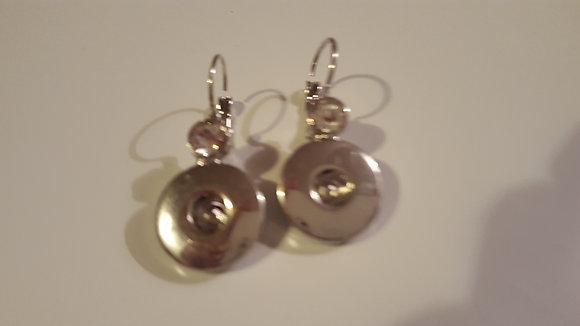 Diamond snap earrings