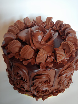 Chocolate & Peanut Butter Candy Cake