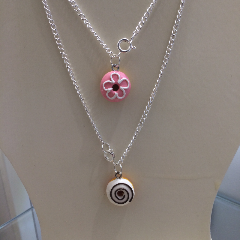 Donut Necklace Clay Craft