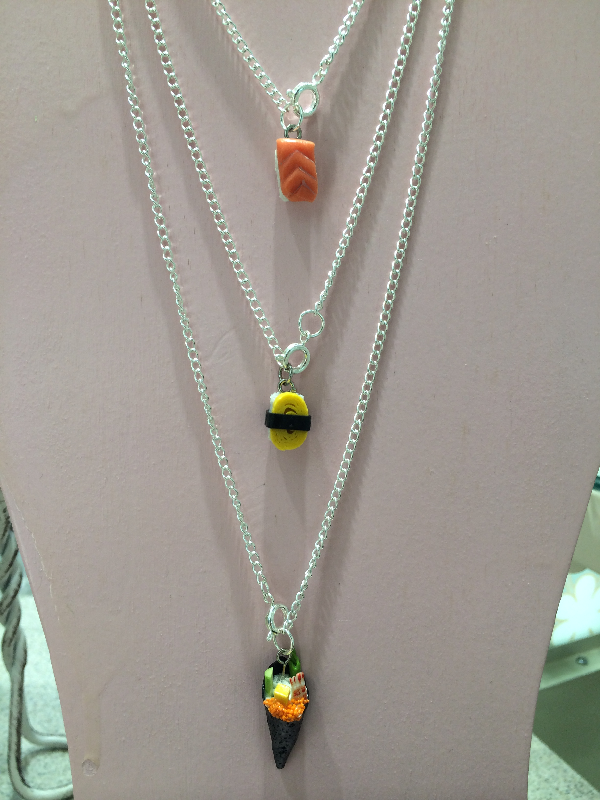 Sushi Necklace Clay Craft