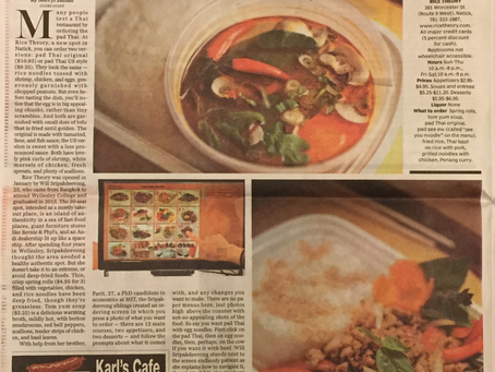 The Boston Globe: Rice Theory's Thai along a strip of American fast food