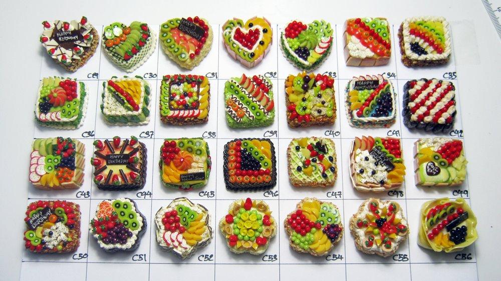 Miniature Cake Clay Crafts