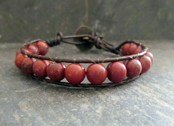 Red Jasper Stone Bracelet Seen on Girlfriends Guide To Divorce