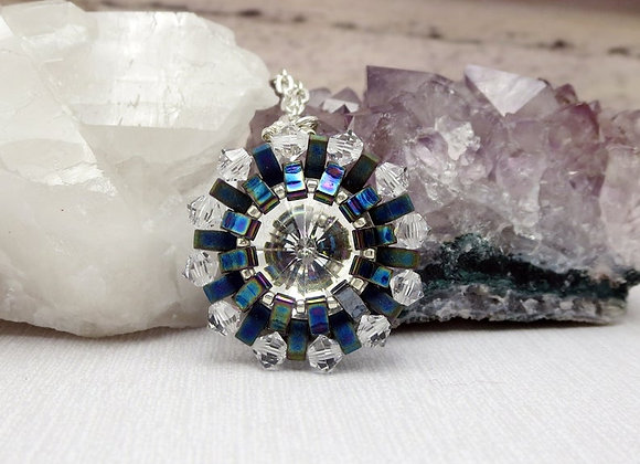 Arc Reactor Necklace - Swarovski Crystal Handwoven Pendant
