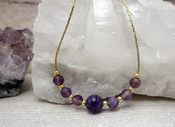 Amethyst and Gold Necklace As Seen on the Young and the Restless