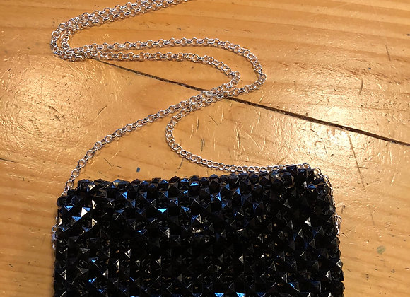 Black Handwoven Beaded Clutch Purse Gifted to CFDA Awards
