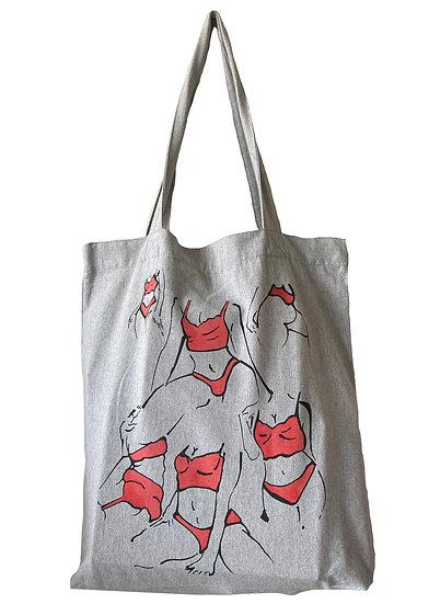 Grey Pose Tote Bag