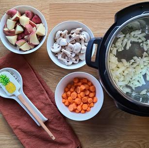 Vegan Instant Pot Irish Beef Stew