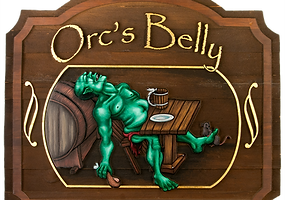 Orc's Belly Inn and Tavern Logo