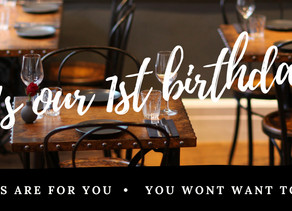 It's our 1st birthday – but the gifts are for you!