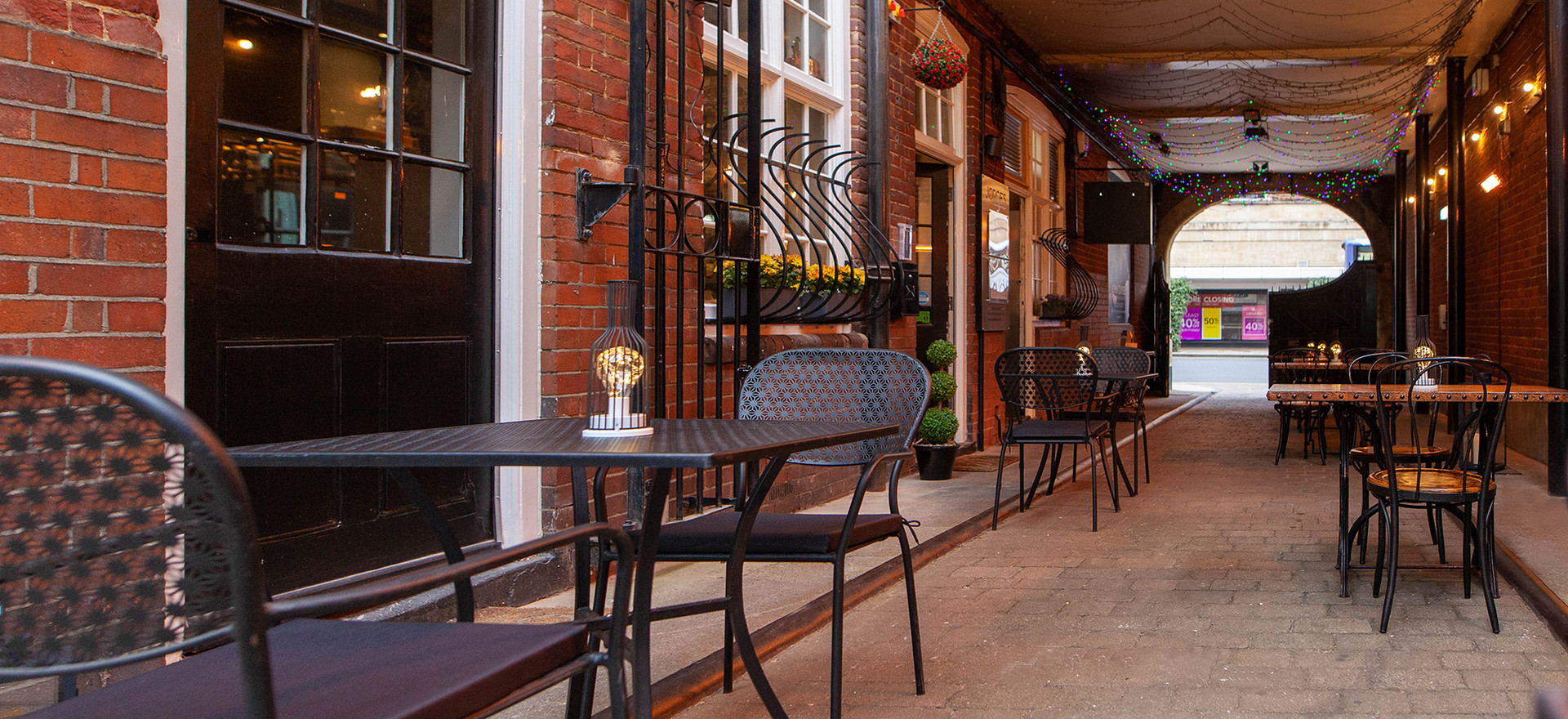 Jorges restaurant is a great place to eat lunch outside in Norwich
