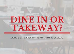 Reopening Plan | Dine-in or takeaway?