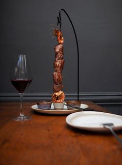 "Hereford Filet Steak & Tiger Prawn ""Espetada"""