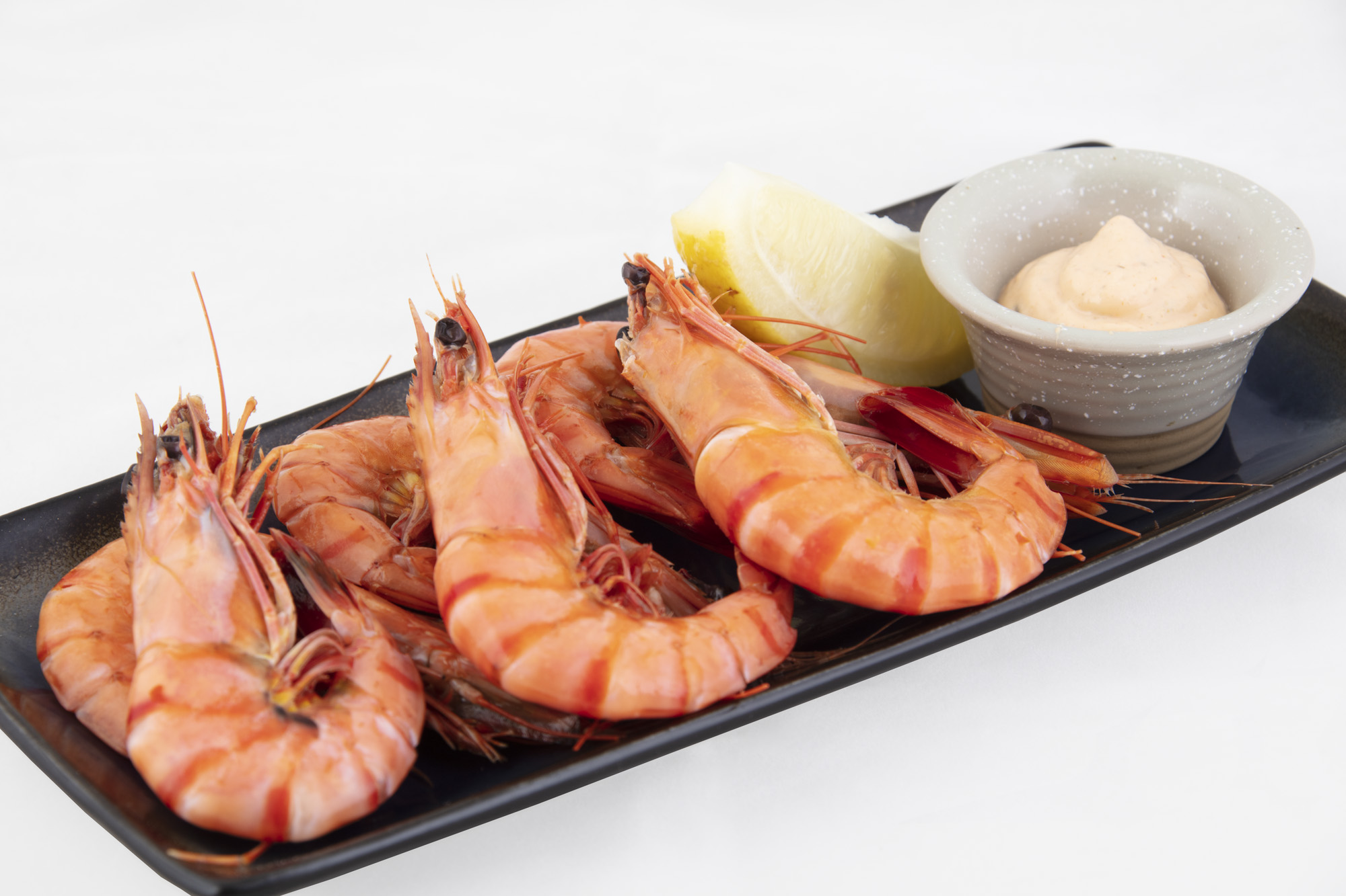 Prawns with cocktail sauce