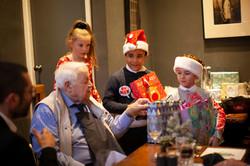 Kids deliver presents to elderly
