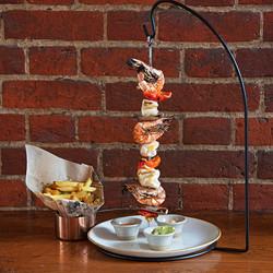 """Squid and prawn seafood """"Espetada"""""""