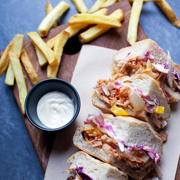 Vegan Jackfruit bifana sandwich from Go Bifanas takeaway in Norwich.jpg