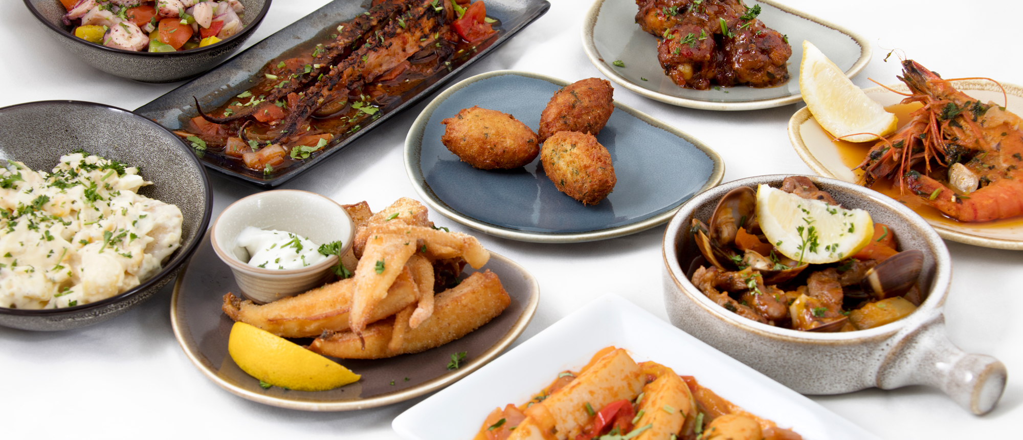Selection of tapas dishes from our lunch menu
