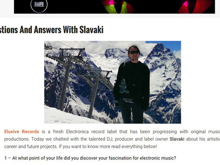 Slavaki's interview for Electrowow blog