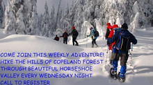 Weekly Moonlight Snowshoe Hikes