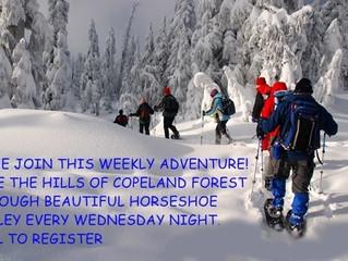 Weekly Moonlight Snowshoe Hikes