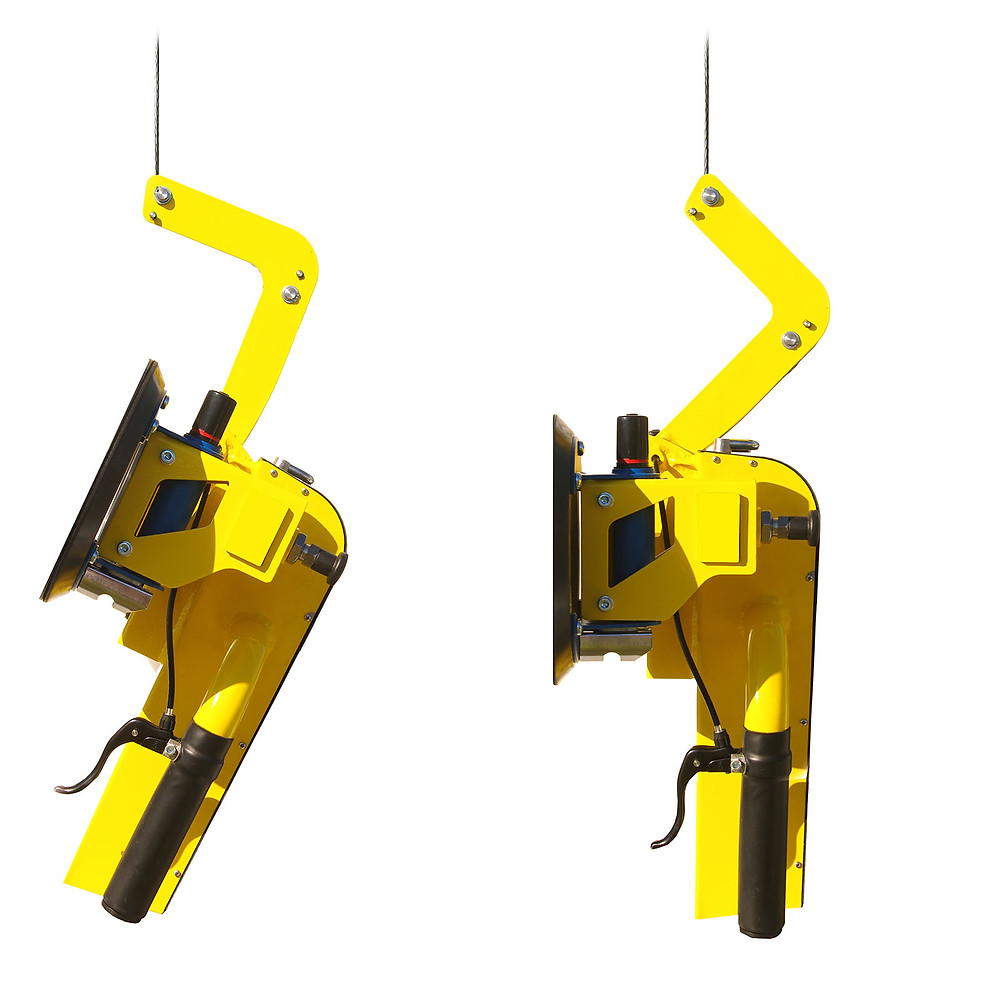 Demonstration of upclimbers pivot feature seen from the side.