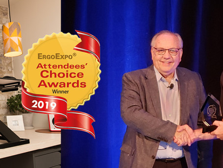 Opløft wins the ErgoExpe Attendees' Choice Award