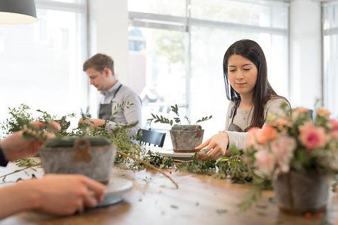 Blumenarrangements Klasse