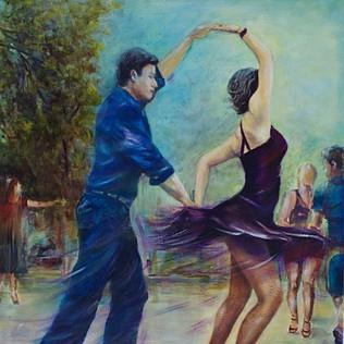 Dancing Under Silk Sunlight
