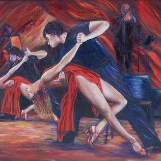 Tango Dance in Red Ectasy