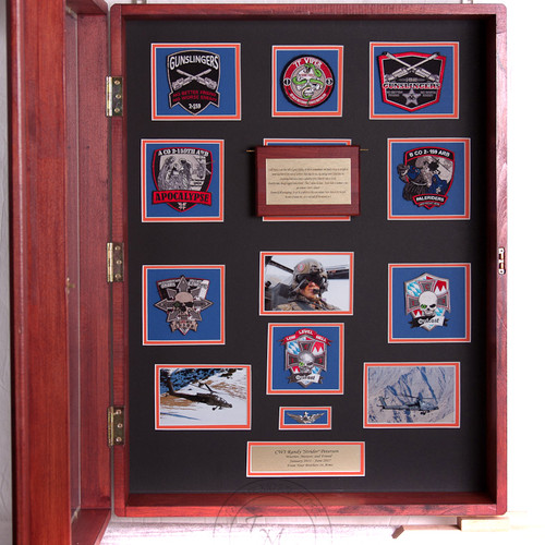 large shadow box with door