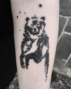 Lovely bear for a first tattoo, thanks f