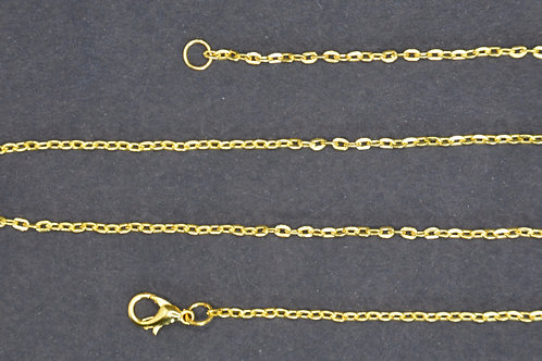 Chaine couleur dorée n°1 - 50 cm - Grand maillon - Grand fermoir