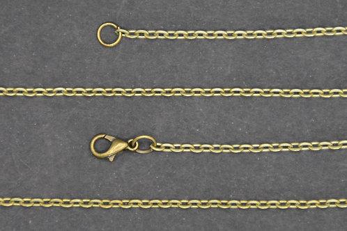 Chaine couleur bronze - n°10 - 50 cm - Grand maillon