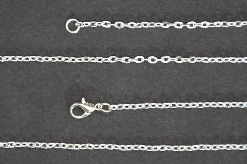 Chaine couleur argent - n°18 - 60 cm - Petit maillon