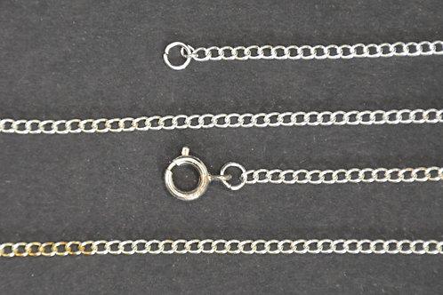 Chaine couleur argent - n°37 - 55 cm - Petit maillon