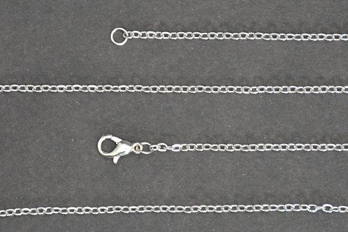 Chaine couleur argenté - n°31 - 50 cm - Petit maillon
