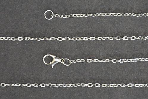 Chaine couleur argenté - n°30 - 60 cm - Grand maillon