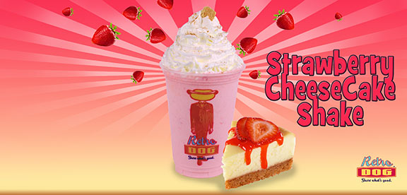 Strawberry Cheese Cake Shake