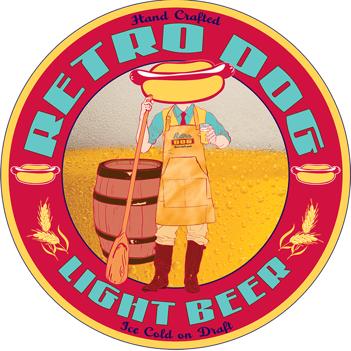 Retro Dog Light Beer