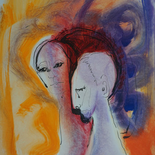 Couple (After Modigliani)