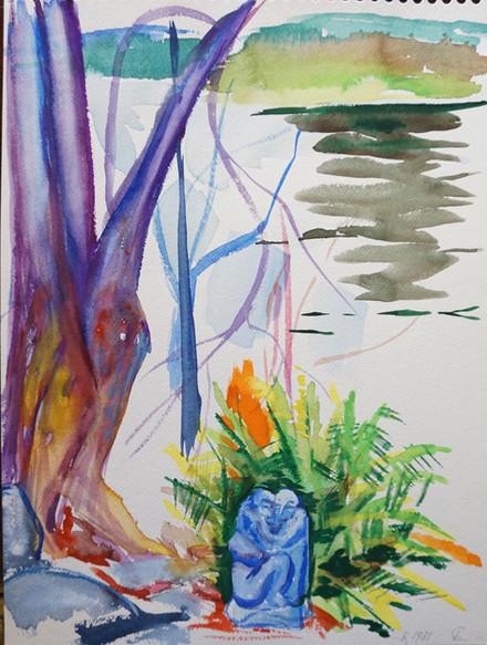 Garden Scene, Bantam Lake, Litchfield