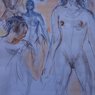 Life Study: Female Standing Nude