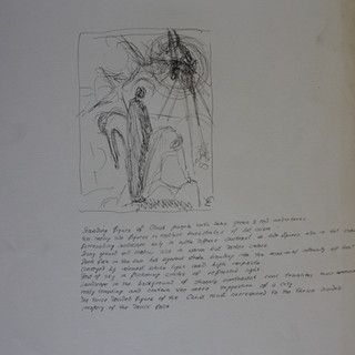 Painting Sketch with Artist's Description
