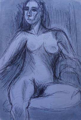 Life Study: Female Seated Nude