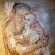 Artist's Infant Daughter and Grandmother