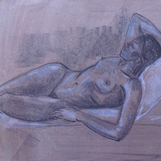 Life Study: Female Reclining Nude