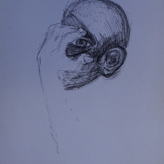 Study for a Head and Hand