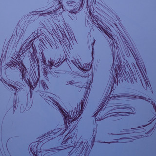 Life Study: Female Seated Nude